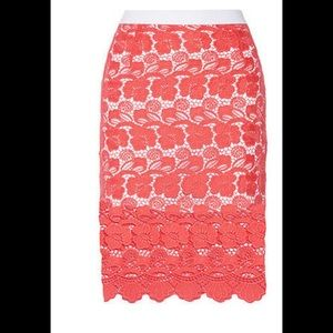 Rebecca Minkoff Angelica Orange Skirt